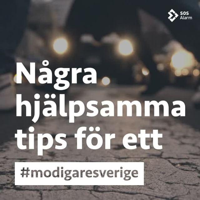Vill du bli bidra till ett #modigaresverige? Här ger vi dig några tips på hur du kan vara redo om olyckan är framme. ⠀ ⠀ #sosalarm #112 #sverige