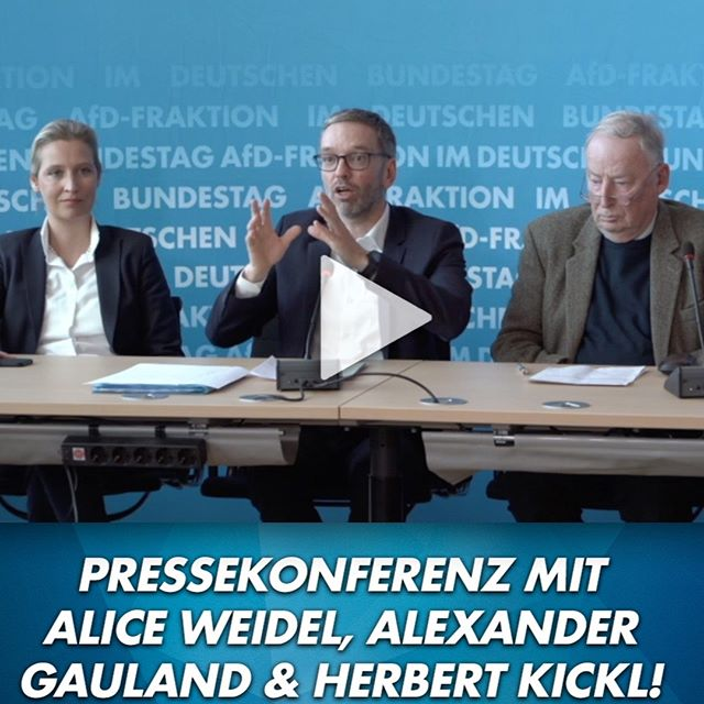 Alice Weidel, Alexander Gauland und Herbert Kickl (FPÖ)