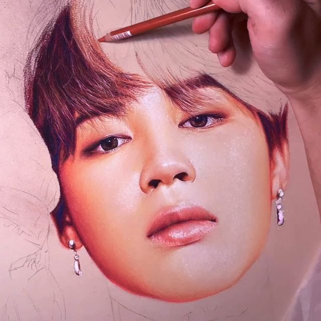 Park Jimin (BTS)- Soft Pastel and Pastel Pencils . Hey Everyone!✨Here's a throwback of my Jimin Timelapse! Thought to share this as it's his birthday today!✨ Also I'll be working on personal work for a bit so I'll be sharing some throwbacks and such until I'm back with the next big piece. . This video received so much love from the fans earlier this year and I'm so grateful to everyone for the constant support no matter what I'm doing. God Bless you ✨ . Prints of this and many more are available on my Etsy shop! (Link in stories)⬆️ . And also, if there is some work of mine you would like as print, even if it's not on my Etsy, just let me know and I will work on it for you 🙌🙏✨ . Look forward to more work! ^^ God Bless✨ . Music: Save Me Cover (Doo Piano)