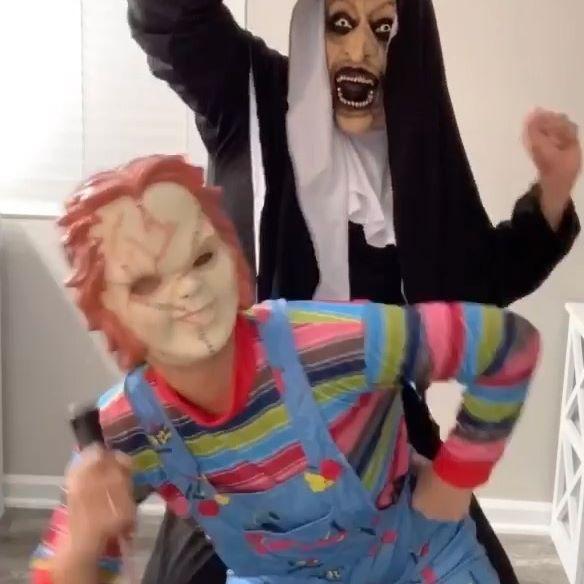 HAPPY HALLOWEEN from Chucky, The Nun & Kaydence! 👻
