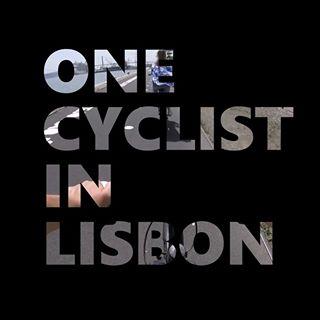 One Cyclist in Lisbon