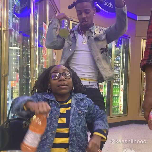 Twin/Boyfriend wit me 😎 What we tell em 💁🏾‍♀️ @woo2tymes 💫☄️🤳🏾 #keeshlinooo #linogang🔄 #libraszn #1018 #twin #bday