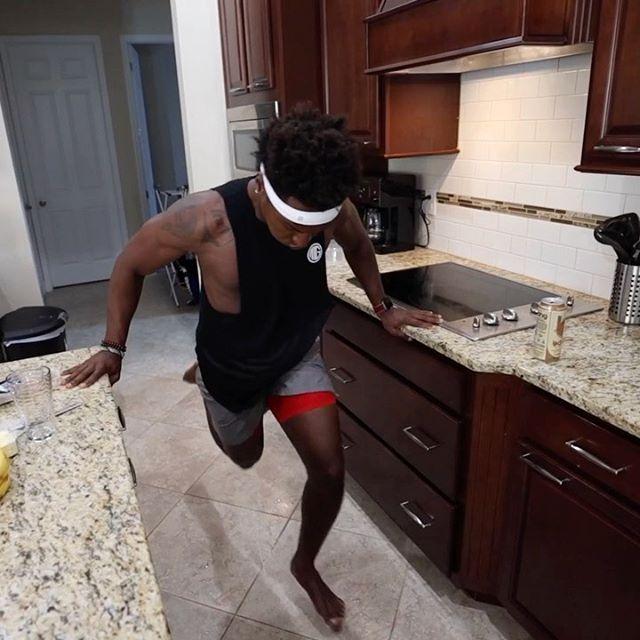 No gym, no treadmill so we gotta do the next best thing 🏃🏿♂️💨