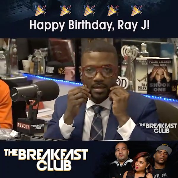 Happy Born Day @RayJ!!! Don't forget the infamous Ray J glasses first debuted on @breakfastclubam #BunnyEyes