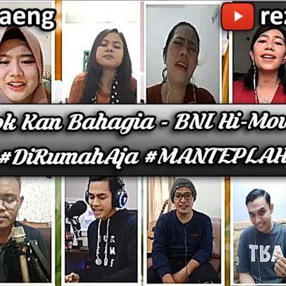 "Repost by @reza_daeng Tuesday, 14th April 2020. ""Esok Kan Bahagia - @dmasivbandofficial""  Sebuah kolaborasi DiRumahAja dari BNI Hi-Movers untuk Indonesia.  Video ini kami persembahkan untuk kawan-kawan yang harus tetap bekerja dan tidak punya pilihan untuk DiRumahAja.  Video ini juga kami persembahkan untuk kawan-kawan yang sedang ragu akan hari esok ditengah wabah Covid-19 saat ini.  Dengan lagu ini, kami ingin menyampaikan pesan dan harapan bahwa kesedihan, ketakutan, kegelisahan serta keraguan akan segera berlalu.  Percayalah kawan, esok kan lebih baik, esok kan bahagia.❤️ MANTEPLAH 🎧Earphones Recommended! • Full video on YouTube channel Reza Daeng or click the link on my bio! • PLEASE LIKE, COMMENT & SHARE SOBSKU!🙌🏻 • #esokkanbahagia #IVGsundaymusic #indomusikgram #covermusikindo #omgvoices #indomusiktv #vokalplus #music #coversong #nyanyi #instasong #cloudmusikgram #instasinger #musiccover #indoakustikcover #songcover dagelan #pangkalanbun #infopbun #corona #covid_19 #bniselebgram #arjunasrikandibni #binabniwbj #bnipangkalanbun #bni #bni46 #bnihimovers"