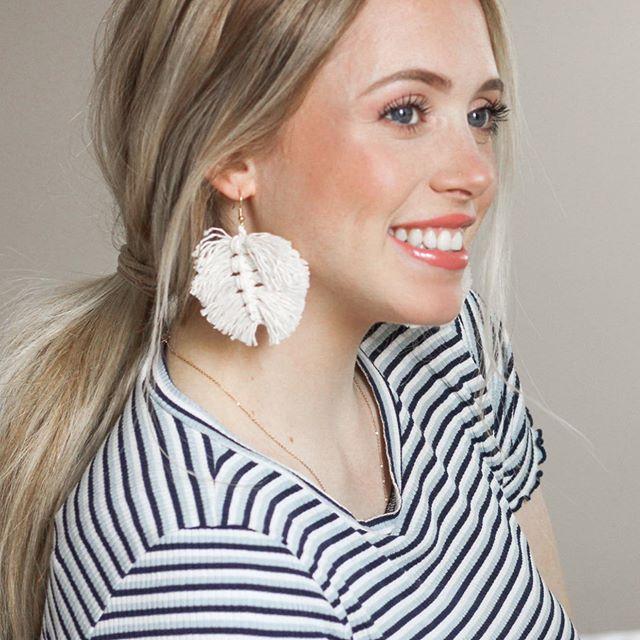 🌟DIY macramé earrings! 🌟