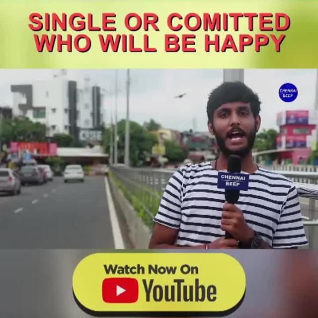 Single or Committed யாரு Happy-ஆ இருக்காங்க ?⠀ - One side love dha better 😝 ⠀ ⠀ Watch full video at ChennaiBeep YouTube channel. (Link in Bio)⠀ ⠀ #SingleMingle #chennaibeep #singlevscommitted #tamilactress #mondaythoughts #Thalapathy64 #Thalaivar168 #onesidelove  #nayanthara #aditirao #ChennaiFoodie #jumpcuts #erumasaani #aathmika #trendingmeme #tamilmemes