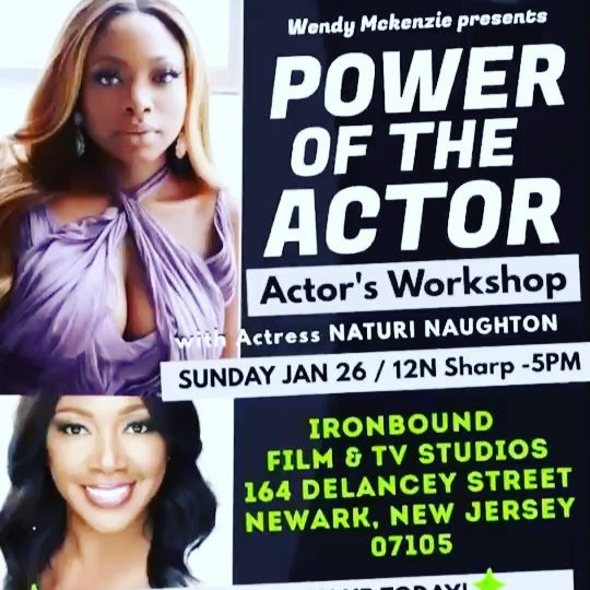 JERZ,There are a few spots left! Email @wendyactingcoach at inthewinkofaneye@yahoo.com if you are serious about this #Actorlife! We have a great day planned for y'all! #PoweroftheActor #Newark #letsGo 🔥