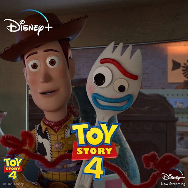 """We're going on a road trip!"" #ToyStory4 is now streaming, only on #DisneyPlus."