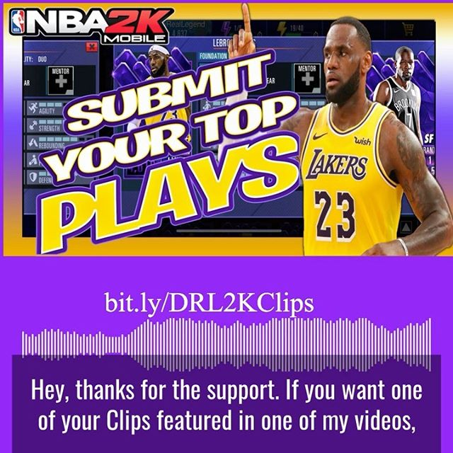 Check Out The Announcement From My Latest Video. I Want to feature clips from the @nba2kmobile community. Feel free to visit the form listed in the pic 👊🏽 Who is hype for the Crews mode dropping next week?  Beat Produced By @youngswedishprodigy  #dareallegend #nba2kmobile