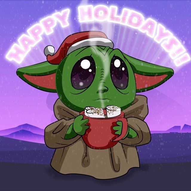 Post your most cherished gift 🎁 in the comments! And Happy Holidays!  Animation by @essencecartoon  Illustration by @hue_zugasti  #happyholidays2019 #christmas🎄 #happyholidayseason #babyyoda #babyyoda #babyyodamemes #babyyoda💚