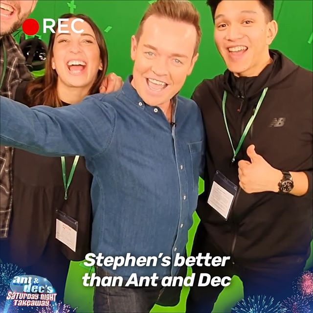 We let @stephenmulhern loose with a selfie stick before Saturday's show and now he's got a LOT of making up to do 🙈 #SaturdayNightTakeaway