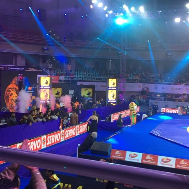 #PWL4: Moments before one of the most interesting fight of the day #BajrangPunia vs #HajiAliyev #ProWrestlingLeague4