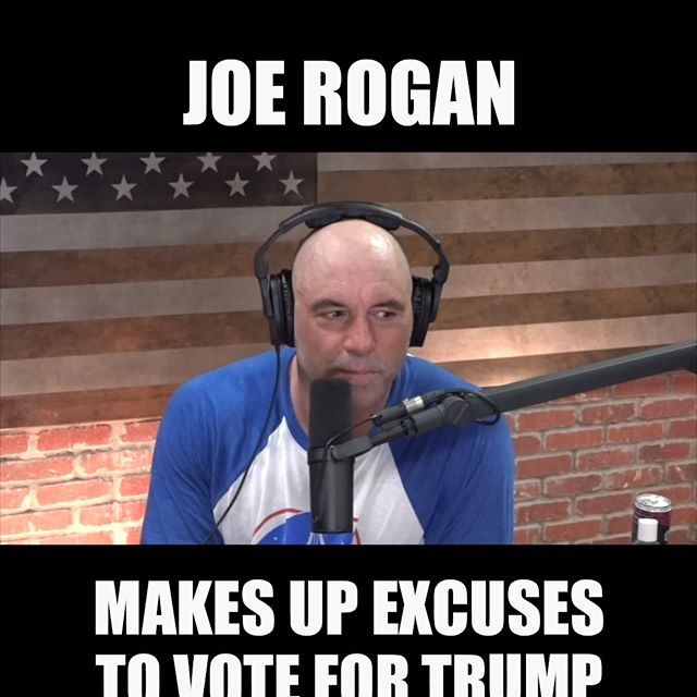 Joe Rogan Makes Up Excuses To Vote For Trump
