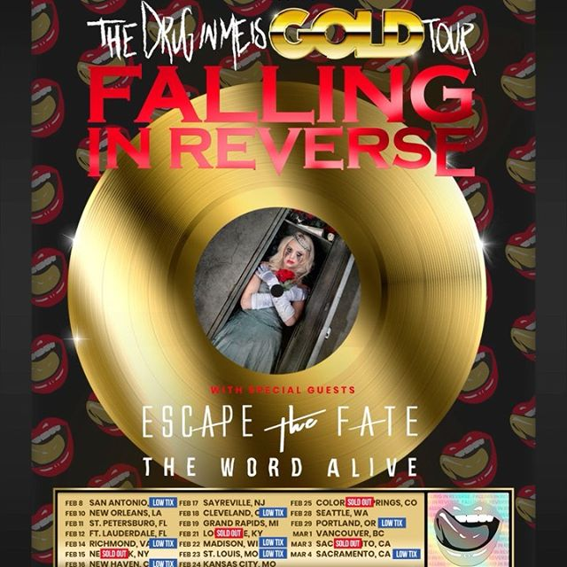 This tour is going to be fun. Don't miss out on tickets. And reminder, VIP is also available now. You can get both at fallinginreverse.com