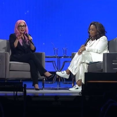 """""""Sometimes I can be in a ton of pain, and meditate and it goes away! It's amazing!""""—Lady Gaga  @LadyGaga joined @Oprah Winfrey for her """"2020 Vision Your Life In Focus Tour"""" in Ft. Lauderdale, Florida. During their conversation they discovered they both practice #TranscendentalMeditation and both learned from DLF CEO @meditationbob...  Find out what #TM can do for you, and help others in need access this simple, effortless, stress-reducing technique at DavidLynchFoundation.org  Video: @WW.Now & Oprah Winfrey"""
