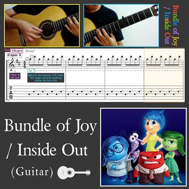 Full video at my YouTube channel: Rainy Day Studio. Bundle of Joy. From Walt Disney / Pixar's 2015 Inside Out. Composer: Michael Giacchino. Guitar arrangement: Ken Phang. #guitar #guitartab #fingerstyleguitartab #fingerstyleguitar #classicalguitar #guitarsolo #rainydaystudio  #ギター #吉他 #吉他 #insideoutguitartab #insideoutguitar #insideout #bundleofjoyguitartab #bundleofjoyguitar #bundleofjoy #disneyguitar #pixarguitar