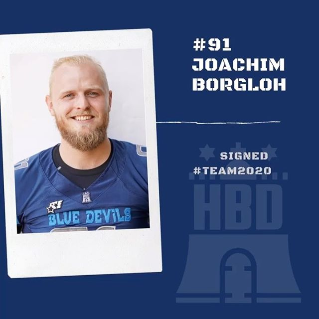 Joachim Borgloh bleibt ein blauer Teufel! In der vergangen Saison hat Joachim bei uns mit Football angefangen und sich einfach unglaublich entwickelt. Wir freuen uns sehr auf eine tolle Saison mit Dir, Joachim!  Ready for 2020? Tryout 08. Feb. 2020, Beginn 16:00 Uhr (Herren ab 19 Jahren) 📷: @thorstenhenschkephotography  #team2020 #hbd2020 #chasegreatness #hamburgbluedevils #goblue #hamburg #football #devils #qb #040 #hbd #nahran #ransüchtig #ballislife #americanfootball @joachimborgloh