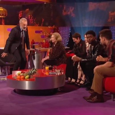Niall Horan getting super awkward on the Graham Norton show. #niallhoran #grahamnorton #nicetomeetya