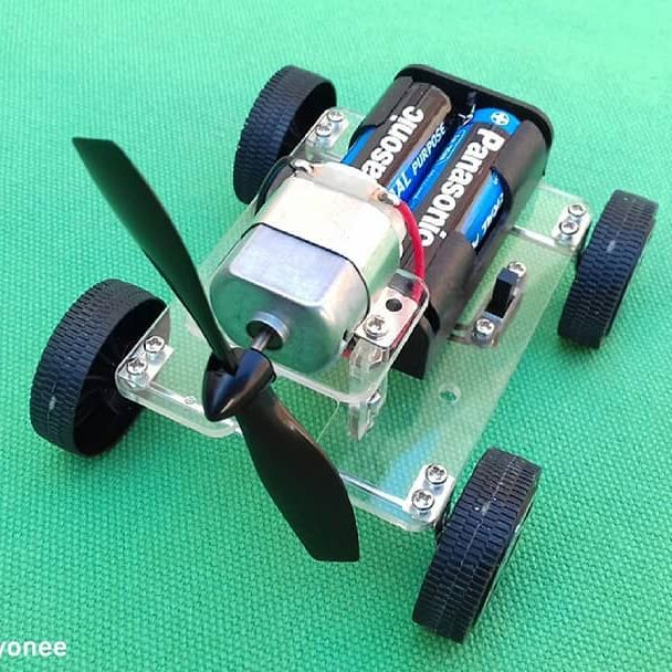 Mini wind car #rccars #rccar #diy #minicar