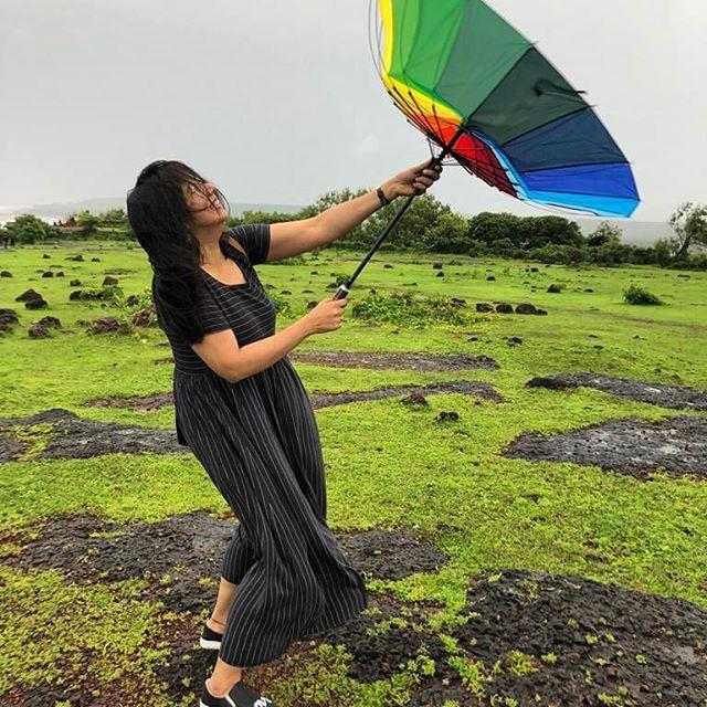 """Don't let go"" of your dreams, your hopes, your wishes & sometimes, your umbrella!! 😉😁 . #monsoon #beachlife #beachday #naturelove #naturephotography #travellife #exploretheworld #globetrotter #bucketlist #travelcouple #travelphotography #wanderlust #worlderlust #travelblogger #traveller #travelbug #traveladdict #worldtraveller #lifewelltravelled #travelholic #girlswhotravel #travelgirl #mytravelgram #totravelistolive  #travelgram #sheisnotlost #girlsthatwander #incredibleindia #indiagram #indiatravelgram"