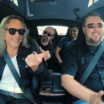 Watch the full interview on our YouTube channel. In #RockstarsInCars, @metallica's @kirkhammett announces his intention to direct a horror movie with his own music as the soundtrack. We're already hyped for it.