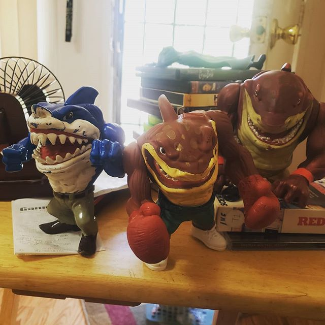 A little scuffed, but gotta love some Street Sharks #bfgroom #brothersforgegaming #toys #retrocollector #streetsharks