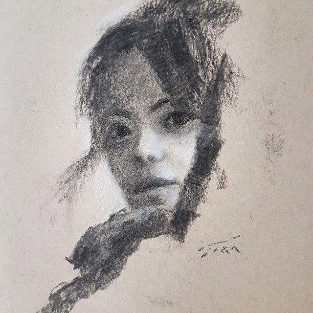 Drawing of my friend Xin.  #charcoal #charcoaldrawing #charcoalpainting #art #realismart #impressionistart #impressionist #portraitpainting #portraitart #portrait #contemporaryportrait #contemporaryrealism #chinese #fineart #portraitdrawing #abstractart