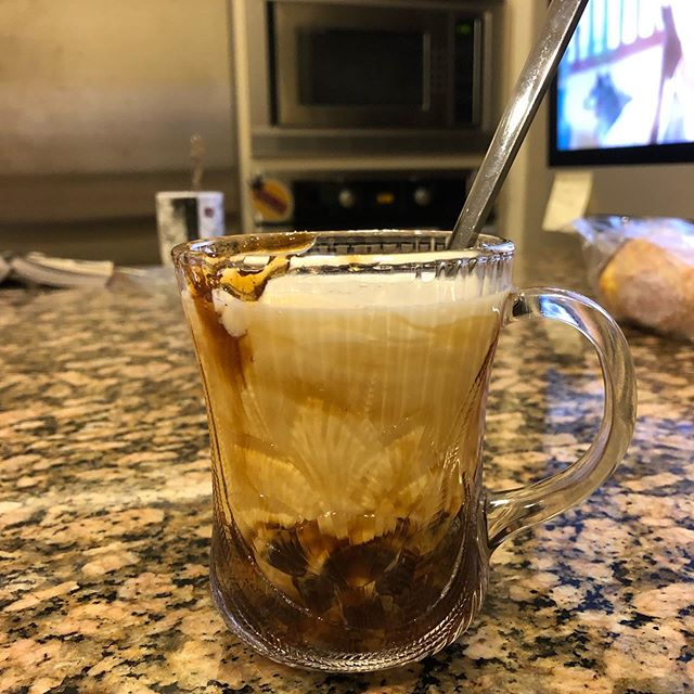 @qqtqing and me made boba together- (don't mind the Chinese tv show in the background-). 💕