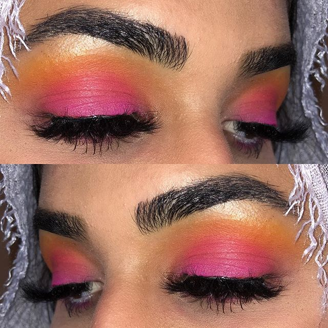 Hey y'all here's a super tropical look I did on Iman's birthday!! I swear pictures do no justice 😭😭 I used the @morphebrushes 35b palette for this look and we popped on some of her @dodolashes for some extra lash volume!! • • • #makeup#colourfuleyeshadow#eyelooks#undiscoveredmuas#morphebabe