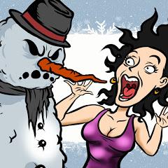 Bromas del Muñeco de Nieve Malvado
