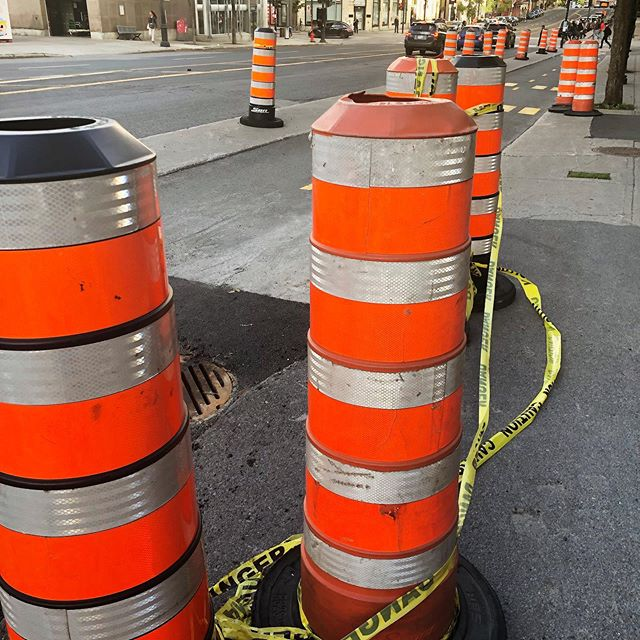 The Montreallers have a lot of ironic pride for their cones, which are, in some ways, not like other cones. They are certainly very ubiquitous. I saw a salt and pepper shaker in the shape of them for sale today.