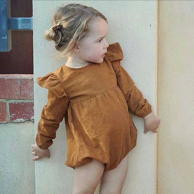Who said rompers are just for infants 😎 We love our new long sleeve cotton romper!  Adorable on its own or with pants/skirts 😍. See link in bio. We ship FREE worldwide 👌 #babyromper #mysweetdarling #mysweetdarlingshop