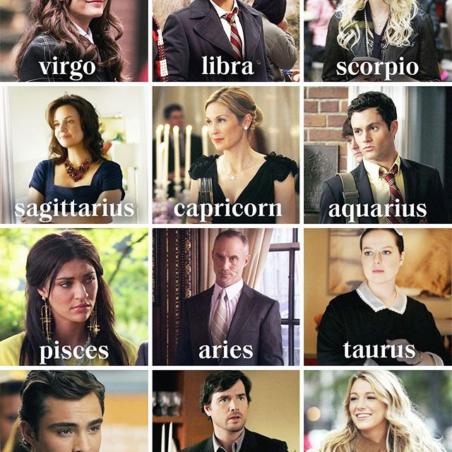 The Zodiac signs as #GossipGirl characters, because Blair Waldorf's personality is PEAK Virgo ♍️ . Head to the link in bio for your weekly horoscope #VirgoSeason.