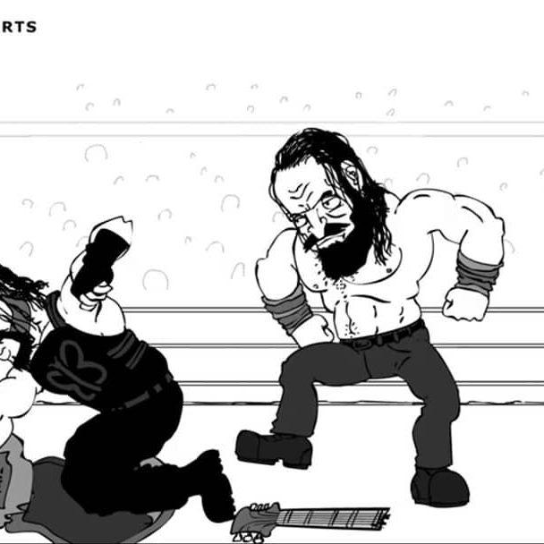 LINK IN BIO: Roman and Elias vs Guitar! ... #romanreigns #elias #walkwithelias #raw #wwe #supershowdown #wwessd @iameliaswwe @romanreigns