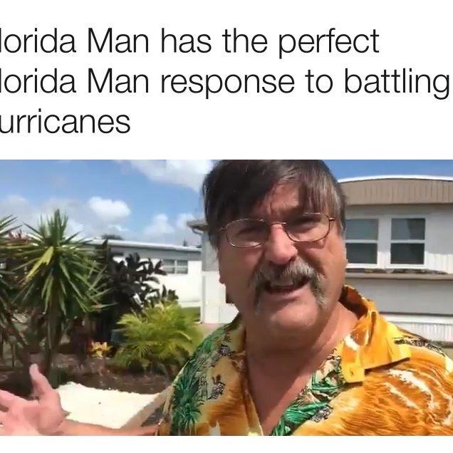 #FloridaMan knows best.
