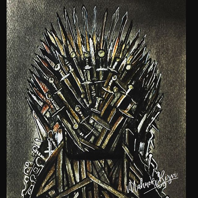 Uploaded the final episode of my GOT Drawing Series on my YouTube channel Drawing: Iron Throne | A Song of Ice and Fire Ep-8 | GOT Drawing Series by Mahnoor Rizvi.  Go have a look on my Channel: Mahnoor Rizvi 📹 Or follow the link in my Instagram Bio 👆🏼 👆🏼 👆🏼 ----- --------- #fanart #artwork #sketch #artist #art #realistic #sketches #pencil #prismacolor #arte #drawings #roughdraft #illustration #drawing #draw #fabercastell #sketchbook #coloredpencil #dailyart #pencilart #pencildraw #pencilsketch #artistsoninstagram #kitharrington #pencildrawing #illustrate #luminance6901 @prismacolor @fandomartsharing #jonsnow #daenerystargaryen @feature_my_stuff @worldofmera @sanctumofheroes @worldofnerdart @artist.trinity @t.h.e.s.h.o.u.t.o.u.t.p.a.g.e @3.post.shout.out @art_overnight @worldofnerdart #gameofthrones