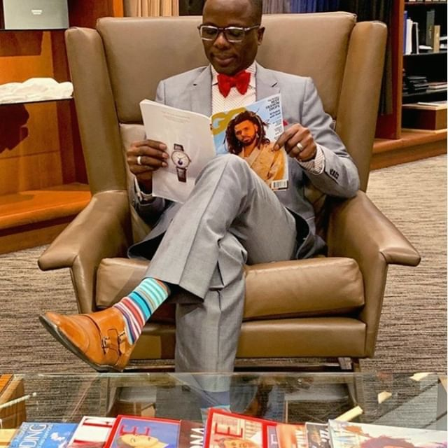 #FriendofToBoot @omor.okagbare looking like he belongs in GQ wearing the Parcell in Burnished Tan . . . . . . . . . . #tobootnewyork #toboot #madeinitaly #mensshoes #friendoftoboot #parcell #burnished #tan #fashionphotography #mensfashion