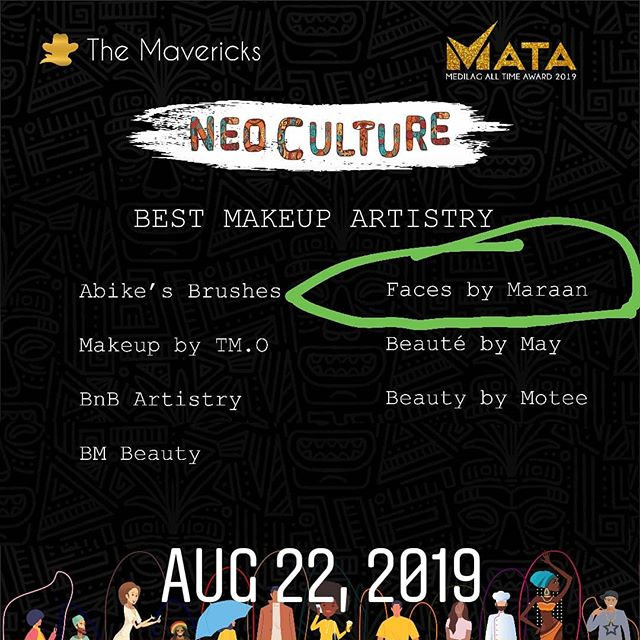 So, yeah since it is the season of nominations and awards. I was just nominated for 'MAKEUP ARTIST OF THE YEAR' @facesbymaraan . Please get ready to vote guys.
