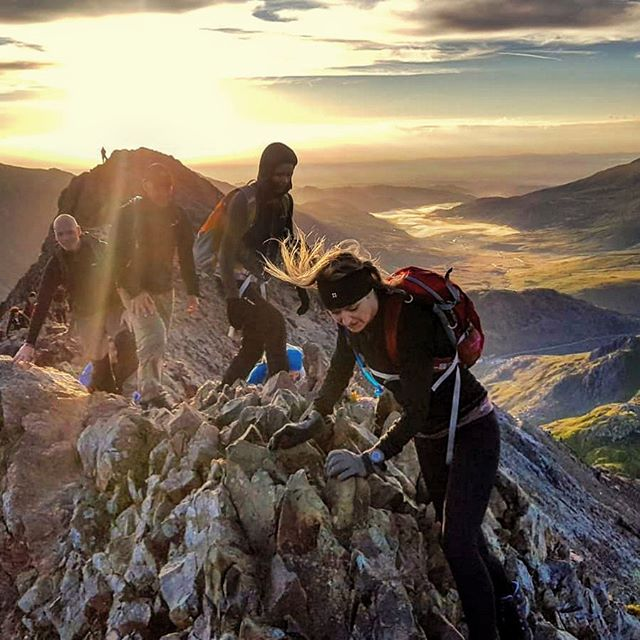 The amazing Crib Goch during sunrise.  Pic taken during a @fitwaysadventures Welsh 3000 challenge.  #adventure #mountain #mountains #mountainwalk #mountaineering #hillwalking #hiking #microadventure #landscape #getoutthere #snowdonia #thisiswales #ilovewales #visitwales #getoutside #walesadventure #eryri #cymru #snowdon #mountainlife #welshmountain #snowdoniapics #snowdonianationalpark #mountainsarecalling #welsh3000s #mountaintraining #mountainleader