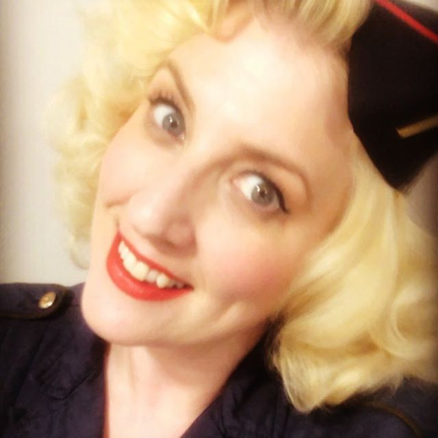 Lois is ready for service with @thehotsietotsies tonight in Loughborough. . . . #vintage #vintagestyle #vintagepinup #vintageclothing #1940s #1940ssinger #vintagesinger #wartimesinger #blondebombshell #vintagehair #pincurlset #wartimedame #pinupstyle #thehotsietotsies