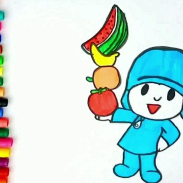 Desenhando e colorindo o Pocoyo!! O VÍDEO COMPLETO vocês podem assistir lá no canal Desenhos e Cores (o link está na BIO). Beijinhos!!! 😘😘😘 #pocoyo #fruits #color #colorful #colors #drawing #desenhos #colorir #dibujos #coloring #coloringbook #kids #forkids #learn #aprendizado #draw #desenhosecores #drawingforkids #artforkids #howtodraw #cutedrawing #cartoondrawing #artforchildren