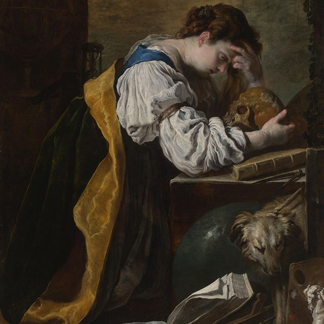 "NEW ACQUISITION—Please join us in welcoming a new addition to the museum's collection: ""Melancholia"" by the Italian Baroque artist Domenico Fetti. . In this painting, a young woman kneels stooped over a table, resting her head heavily on her hand as though burdened with the weight of the universe. This image, recurrent across centuries, has come to define the iconography of the universally experienced emotion of melancholy. Fetti's painting resonates even with contemporary audiences today by suggestively evoking depression and anxiety. . ""Melancholia"" expands on the Art Institute's strength in paintings made by artists working in Rome in the wake of Caravaggio and allows the museum to expand the narrative in the galleries related to artistic crossovers between the north of Europe and Italy. . See Domenico Fetti's ""Melancholia"" on view in Gallery 211."