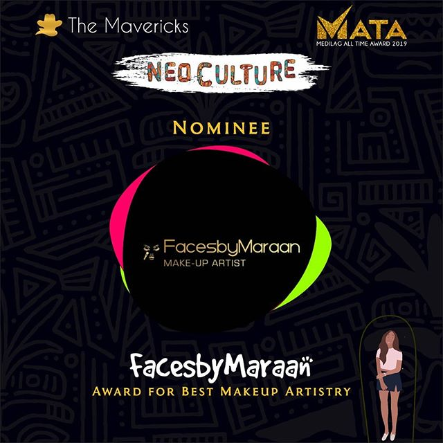 Hi guys. The Awards season is upon us and all road leads to *MATA*  http://bit.ly/VOTEMATA19 Please click link in my bio to vote.  Please vote my makeup brand *Faces by Maraan* for *BEST MUA of the year* Thanks