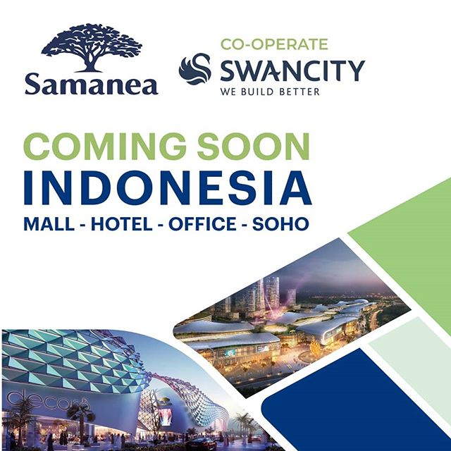 Samanea is planning to build a Superblock include Shopping Mall, Hotel, Office Tower and Soho @ Lavon Swancity. . Headquartered in Singapore, Samanea Group invests, develops, and operates large-scale trade centres for wholesale, retail, and services in key markets across America, Australia, Cambodia, Canada, Indonesia, Malaysia, Myanmar, Thailand, and the United Arab Emirates. . Indonesia, the largest country in Southeast Asia, has more than 270 million residents from more than 300 ethnic groups. It is also the world's largest island country, with an astonishing number of 17,508 islands. . Indonesia has been developing rapidly, especially in tersm of infrastructure. Its high-speed railway spans across Java Island and connects the capital Jakarta to Surabaya in East Java. After completion, the travel time will be shortened from 3 hours to 40 minutes, which will effectively reduce traffic congestion between the two cities. Morever, an economic corridor will then be set up, bringing more investment in local business development. .  Asthe strategic partner of Samanea,China Fortune Land Development(CFLD) constructs the Jakarta Tangerang New Industry City (KNIC) in Indonesia. Samanea collaborates with CFLD International to build the Samanea Jakarta Market, offering a stable trading platform for worldwide small businesses. Located right at the gate of Tangerang New Industry City and along the express highway between Jakarta and the bustling port Pelabuhan Merak, Samanea Jakarta Market covers an area of 96,000 square meters. It is only 25 km away from the Jakarta International Airport and 30 km away from the Central. . #lavon2 #lavonswancity #samanea #likeforlikes #instagood #lavontangerang #likeall #rumahmewah #mobilmewah #l4l #rumahmilenial #ootd #cute #fashion #potd #party #funny #picoftheday #perumahanmewah #happy #fun #love #tbt #photooftheday #lavon #like4likes #samaneagroup #suvarnasutera #mewah #likeforlike
