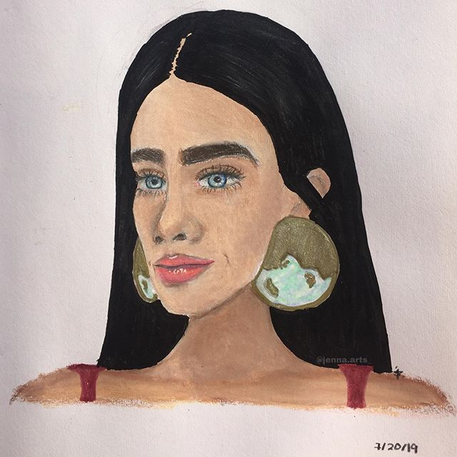 Finally! A new profile pic! So I redrew a drawing I did last year, if you scroll down, you can find it. I added my little touch to the earrings. I guess this is an improvement post too. Anyways, Wdyt? - • #art #artist #artistsoninstagram #artistsofinstagram #artists #artistic_nation #artistic #draw #drawing #prismacolors #improvementpost #earrings #fuyuch7features