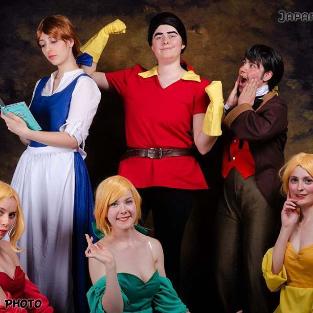 One year ago we had the silly idea of cosplaying the Bimbettes after singing out loud the Beauty and the Beast songs at Japan Party.  Then our idea grew stronger and we started a big Beauty and the Beast cosplay group. We sewed all our cosplay ourselves and after some problems we finally went on stage for the contest. And we won the Group prize !! Belle - @fearynna  Gaston - Camy LeFou - @gaetanmoliere  Claudette - Floriane Paulette - @zoe.chanson  Laurette - Cassandre  #beautyandthebeast #disneycosplay #bellecosplay #gastoncosplay #lefoucosplay #bimbettescosplay #japanparty2018