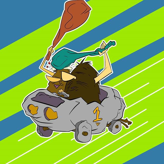 It's Wacky Races Time!  First up is,  The Slag Brothers in their The Boulder Mobile!  #cartoon  #wackyraces  #animation #boomerang #SlagBrothers #TheBoulderMobile #Cartoons #HannaBarbera #HannaBarberaCartoons #Art  #saturdaymorningcartoons #saturdaycartoons  #instaartist  #instaart  #instaarts #illustration  #drawing  #CSP  #cartoonnetwork
