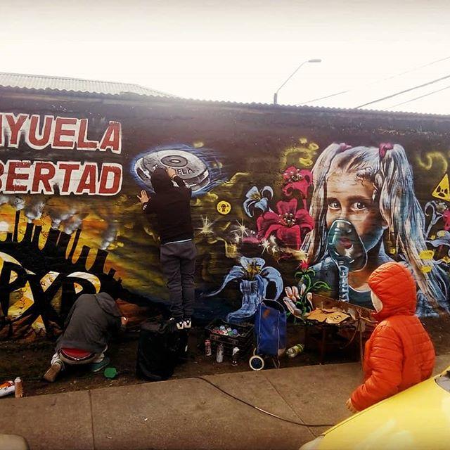 Encuentro Población Libertad #graffitichileno  #poblacionlibertad  @poblacionlibertad2019  #graffiti #pxpcrew