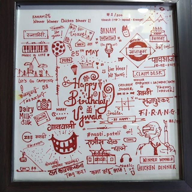 ♥️Want to give someone a Memorable gift ? The handmade greeting with the frame will be the best option for you , it contains all  your favorite memories 💕 . . . ▶️ You can select any kind of greeting , just tell us ,we will make it for you at the cheapest cost . . . . Surprise your Loved ones  with the handmade greeting ❤️ ➡️ Dm us for the orders. ➡️ Send photos on the WhatsApp ➡️ Check out our other gifts in the timeline . . . . #handcraftedmemories  #crafts #handmade #craftersofinstagram #diy #craftlife #diycrafts #love #birthday #craftsy #handwritinggoals #crafting #birthdaygirl #surprise #craftshop #greeting #greetingcardsforsale #instacraft #valentine #craftlover #crafter #hahandwrittenfont  #artistoninstagram #greetings  #art700 #likeforfollow #followforfollow #like4like #follow4follow .  @_introvert_guy_  @gauri_gadhave  @tejasvikadam17  @kunjal888  @pradnyachejara